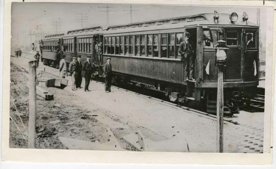 First Long Island Rail Road electric train to