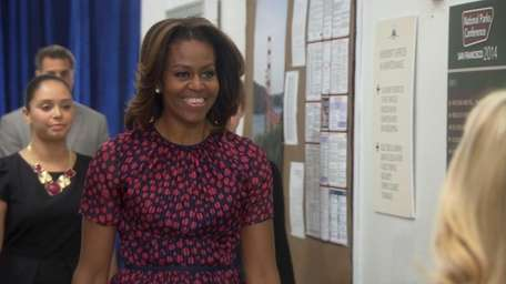 Michelle Obama appears as herself on the season