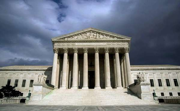 The Supreme Court Building in Washington, D.C., on