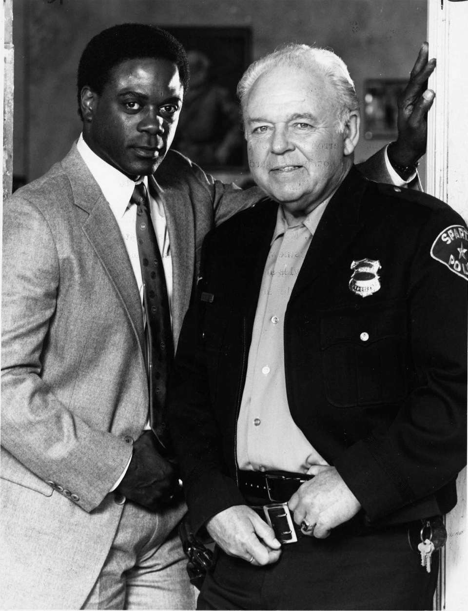 Howard Rollins, left, and Carroll O'Connor starred in
