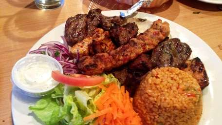 Mixed grill at Istanbul Cafe II in St.