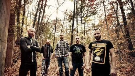 Killswitch Engage members, from left: Justin Foley (drums),