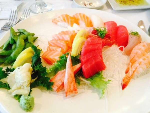 Sushi and sashimi are among the recommended dishes