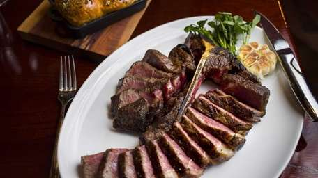 The porterhouse steak for two is highly recommendable