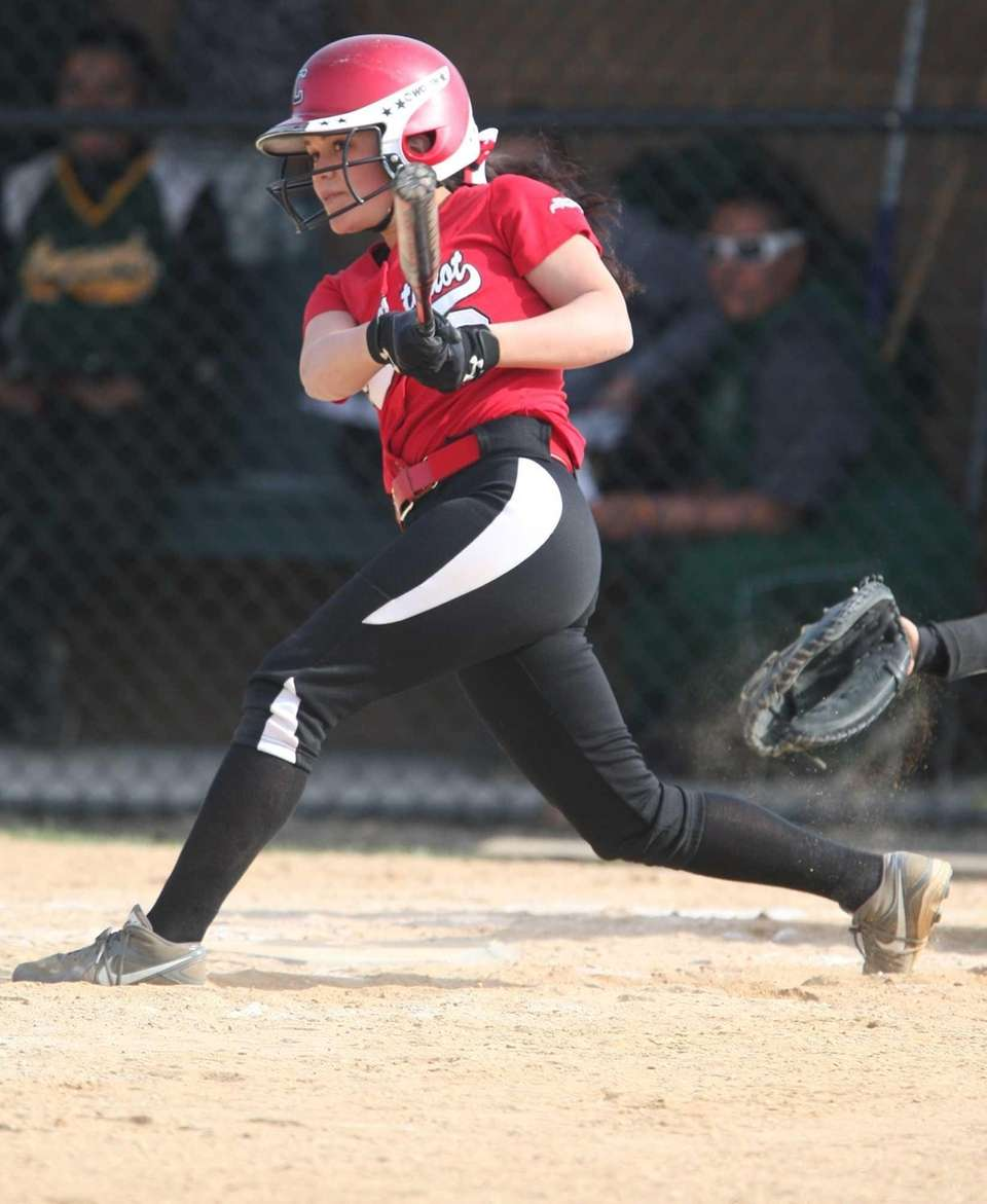 Connetquot's Kristina Balsano blasts a two-run HR over