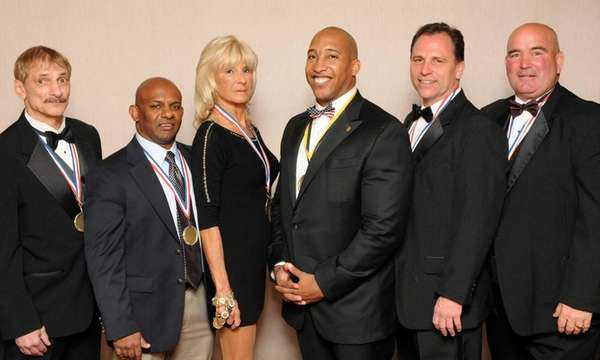 National Wrestling Hall of Fame 2014 inductees pose