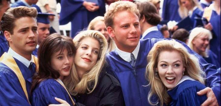 "The kids of ""Beverly Hills 90210"" at the"