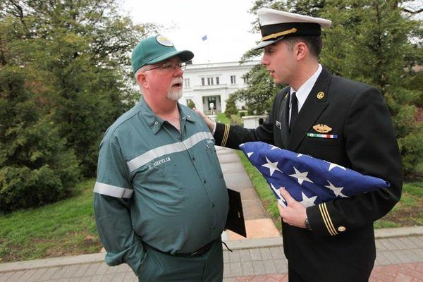 "Ed ""Shevy"" Shevlin of Rockaway Park, a veteran"