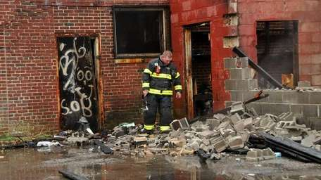 Firefighters responded to a fire at an abandoned