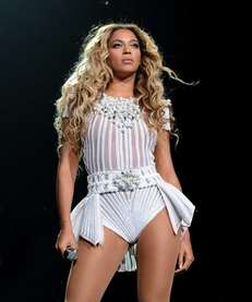 "Singer Beyonce performs on her ""Mrs. Carter Show"