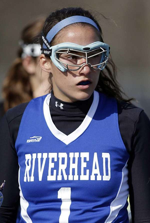 Riverhead midlfileder Carolyn Carrera is seen on the