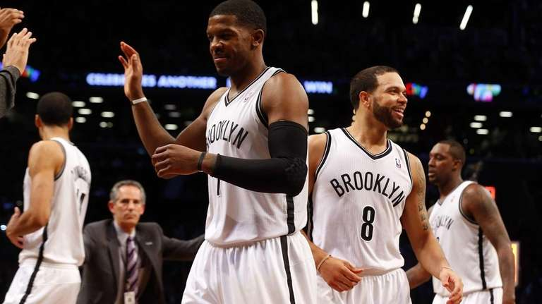 Joe Johnson and Deron Williams of the Nets