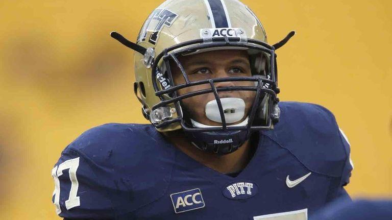 Pittsburgh defensive lineman Aaron Donald is seen during