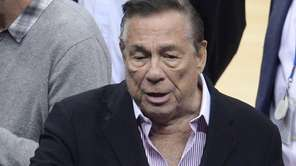 Los Angeles Clippers owner Donald Sterling attends the