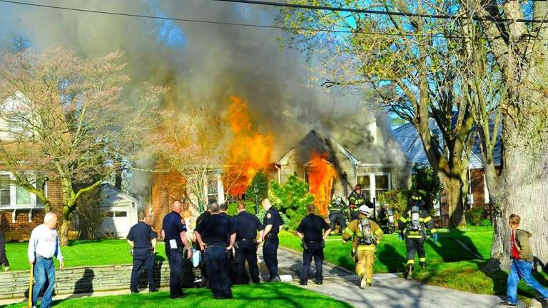 More than 100 firefighters from several departments battled