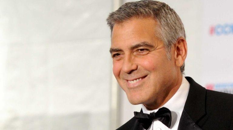 George Clooney, winner of the Best Actor Award