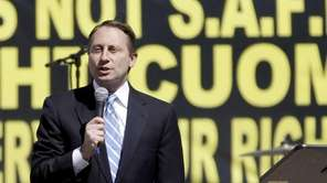 Republican gubernatorial candidate Rob Astorino speaks during a