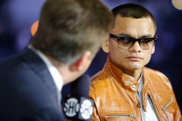 Marcos Maidana talks to the media to preview