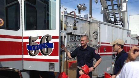 Kids can climb on fire trucks, dump trucks