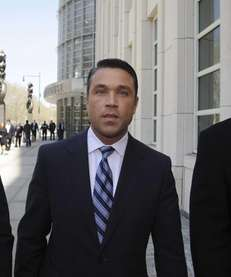 Rep. Michael Grimm, center, leaves federal court in