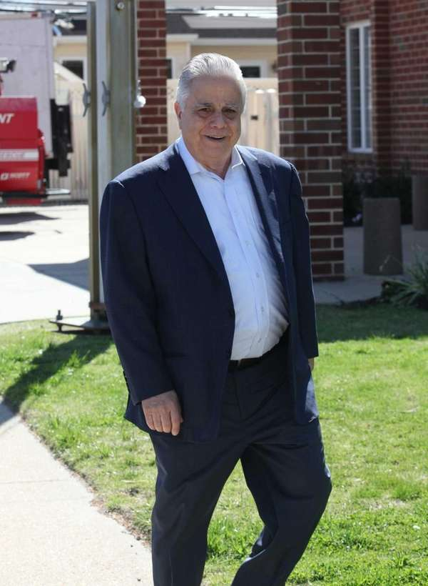Oheka Castle owner Gary Melius attends the funeral
