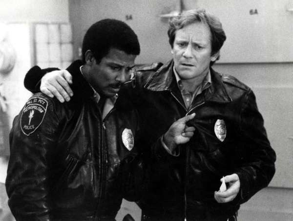 Officer Hill (Michael Warren), left, and Officer Renko