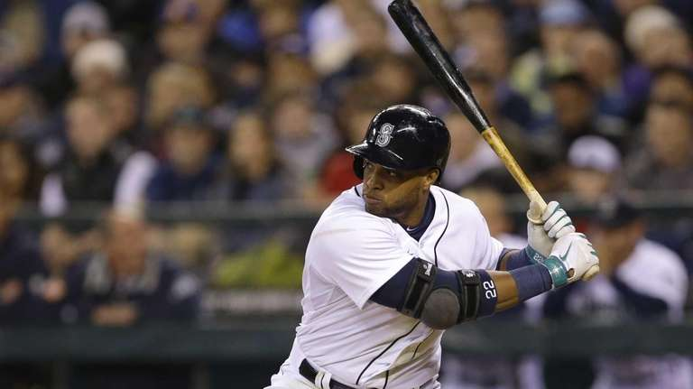 Seattle Mariners' Robinson Cano concentrates during a plate