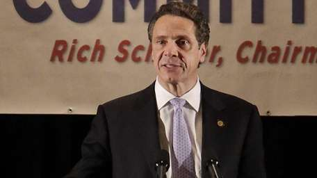 Governor Andrew Cuomo speaks at the Suffolk County