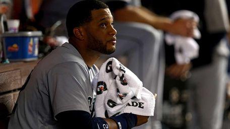 Seattle Mariners second baseman Robinson Cano looks on