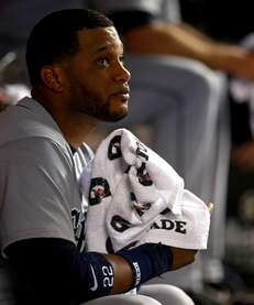 Seattle Mariners second baseman Robinson Cano looks on