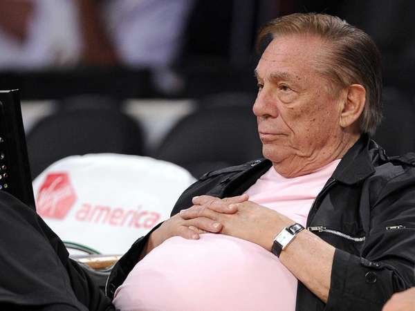 Los Angeles Clippers team owner Donald Sterling watches