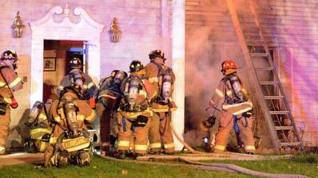 An early-morning fire caused what police called