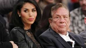 V. Stiviano and Los Angeles Clippers owner Donald