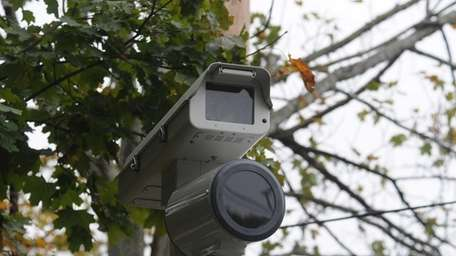 A red light camera, pictured on Oct. 26,
