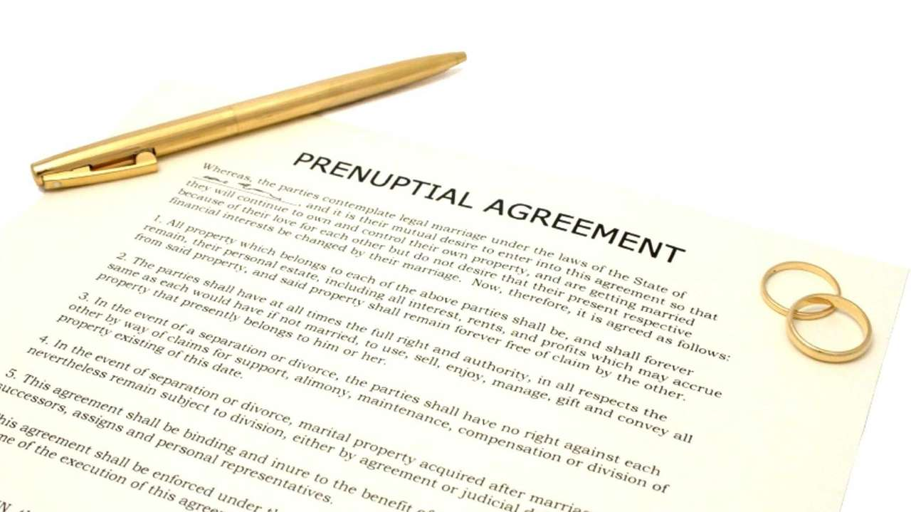 Prenuptial Agreement Supersedes Marital Law Newsday