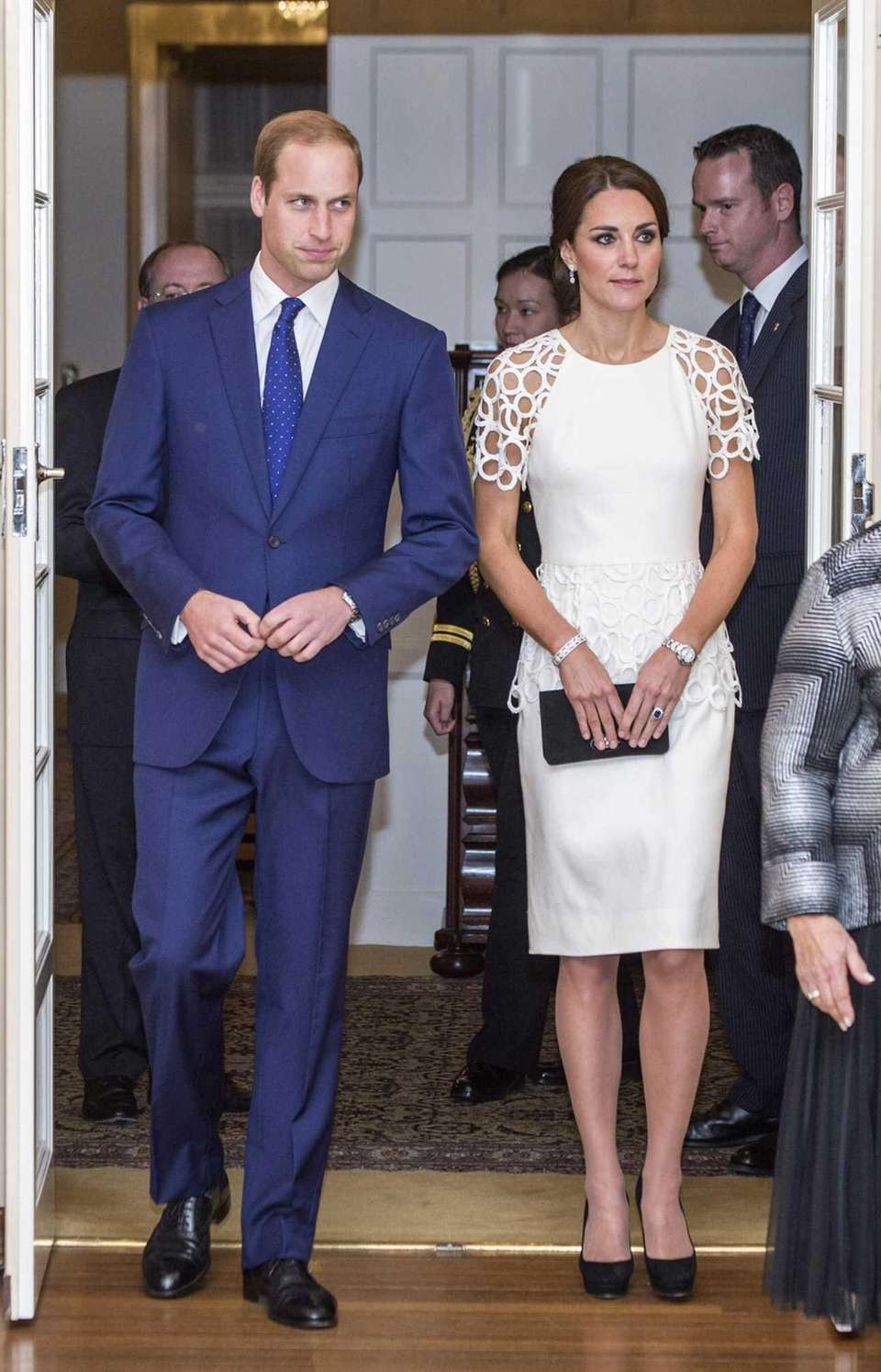 Prince William and Kate attend a reception hosted