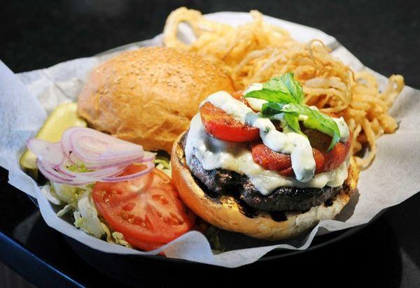 Gourmet Burger Bistro, Port Jefferson: The lengthy burger