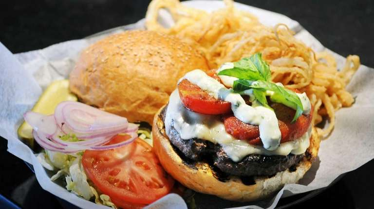 Gourmet Burger Bistro, Port Jefferson: The lengthy burger
