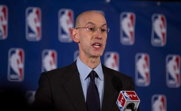 NBA Commissioner Adam Silver announces at a press