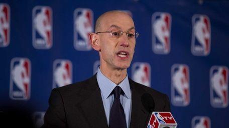 NBA Commissioner Adam Silver announces at a press