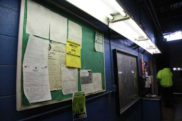 A corridor showing the bulletin board in the