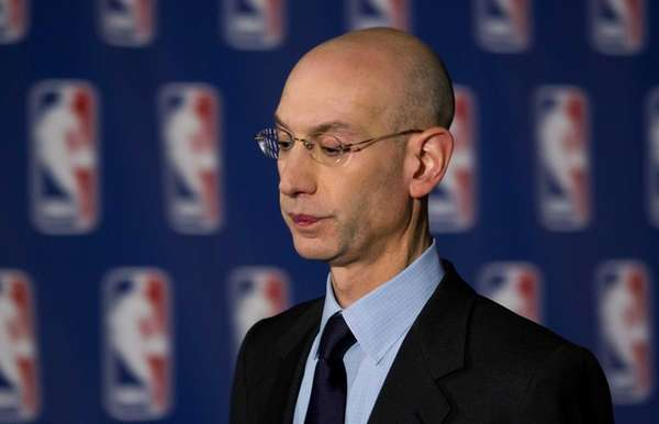 NBA Commissioner Adam Silver leaves a press conference