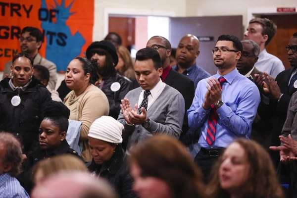 Community members attend the Kick-off of Pathways to