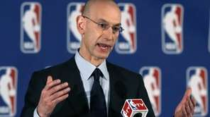 NBA Commissioner Adam Silver addresses a news conference