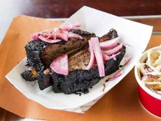 The brontosaurian beef rib at North Fork Bacon