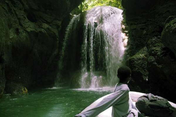 Somerset Falls near Montego Bay, Jamaica. Hilton is