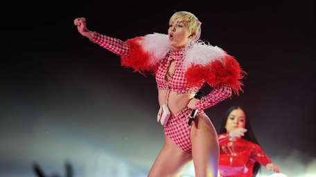 Miley Cyrus performs at the Barclays Center in