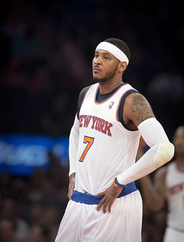 The Knicks' Carmelo Anthony while playing the Chicago