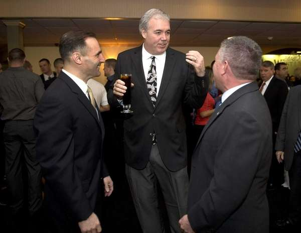 Edward Walsh, center, Suffolk County Conservative Party chairman,