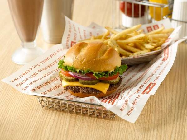 The classic Smash burger at Smashburger includes American